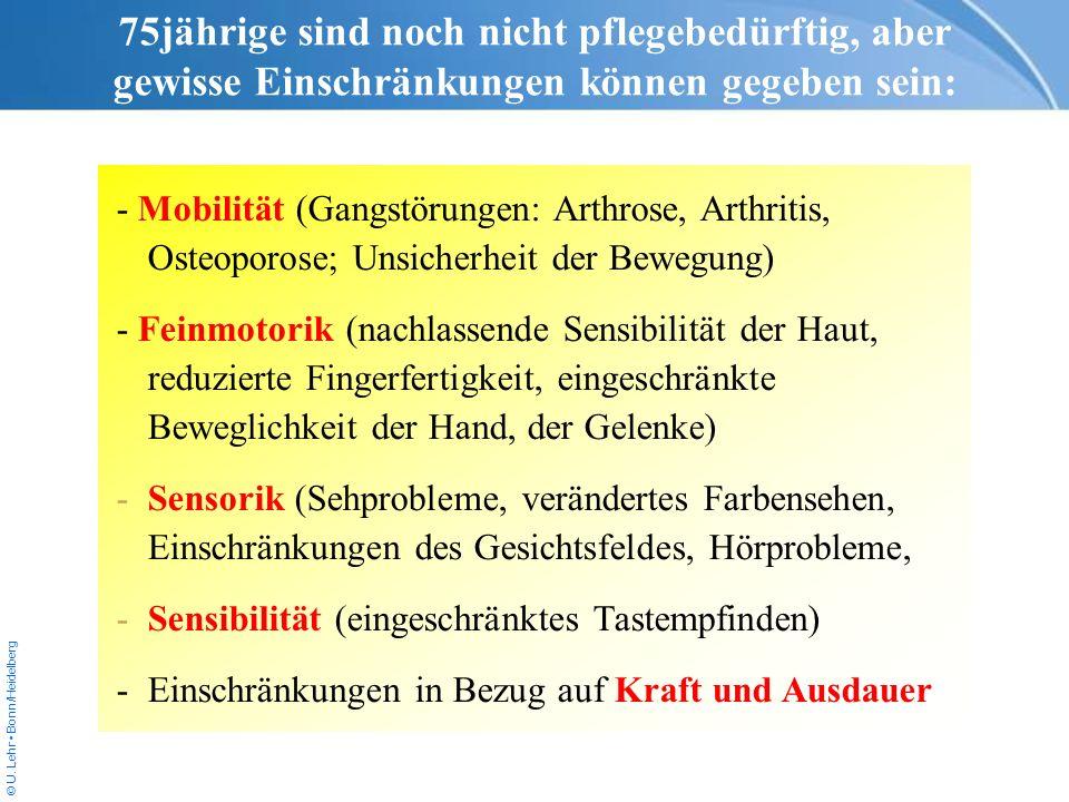 © U. Lehr Bonn/Heidelberg - Mobilität (Gangstörungen: Arthrose, Arthritis, Osteoporose; Unsicherheit der Bewegung) - Feinmotorik (nachlassende Sensibi