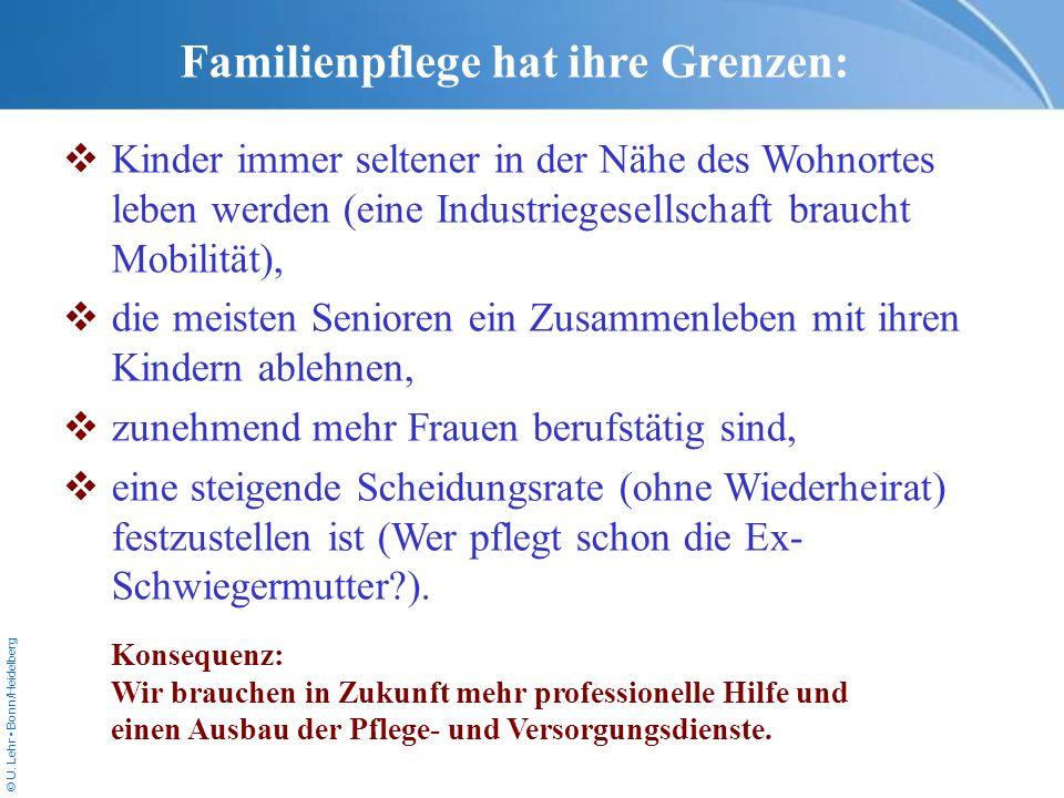 © U. Lehr Bonn/Heidelberg Kinder immer seltener in der Nähe des Wohnortes leben werden (eine Industriegesellschaft braucht Mobilität), die meisten Sen