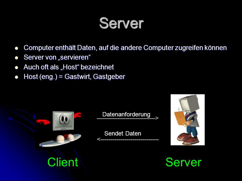 Server Computer enthält Daten, auf die andere Computer zugreifen können Computer enthält Daten, auf die andere Computer zugreifen können Server von se