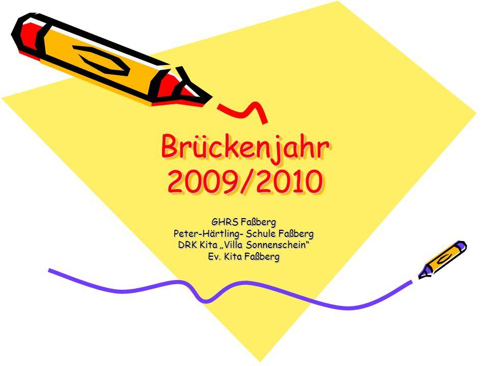 Brückenjahr 2009/2010 GHRS Faßberg Peter-Härtling- Schule Faßberg DRK Kita Villa Sonnenschein Ev. Kita Faßberg