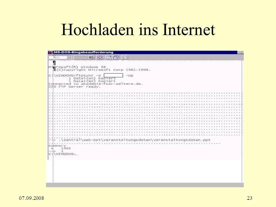 07.09.200823 Hochladen ins Internet