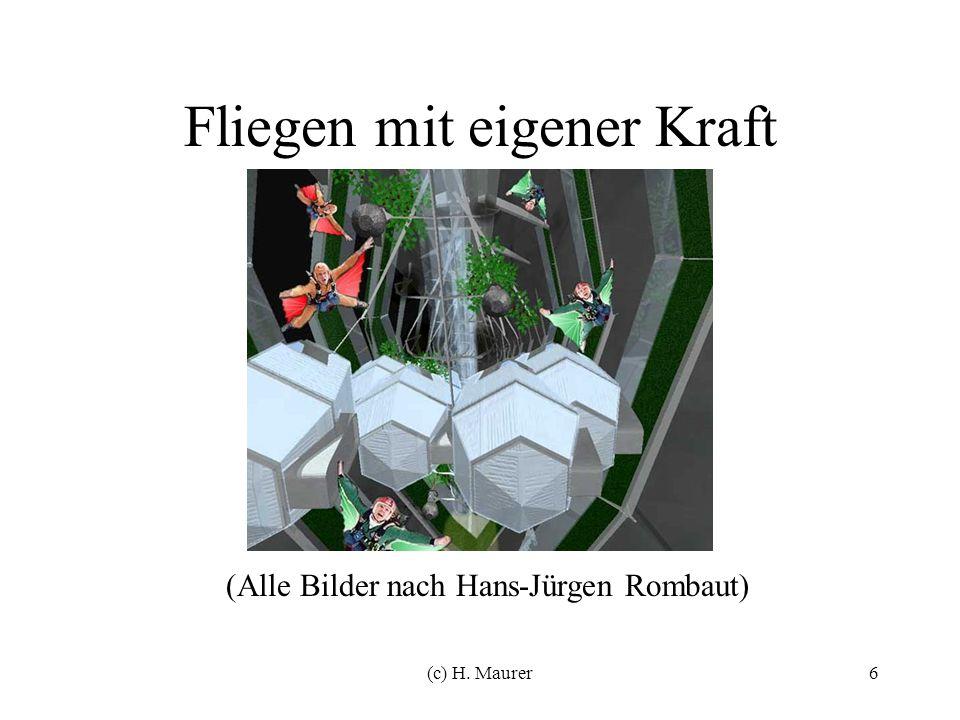(c) H. Maurer6 Fliegen mit eigener Kraft (Alle Bilder nach Hans-Jürgen Rombaut)