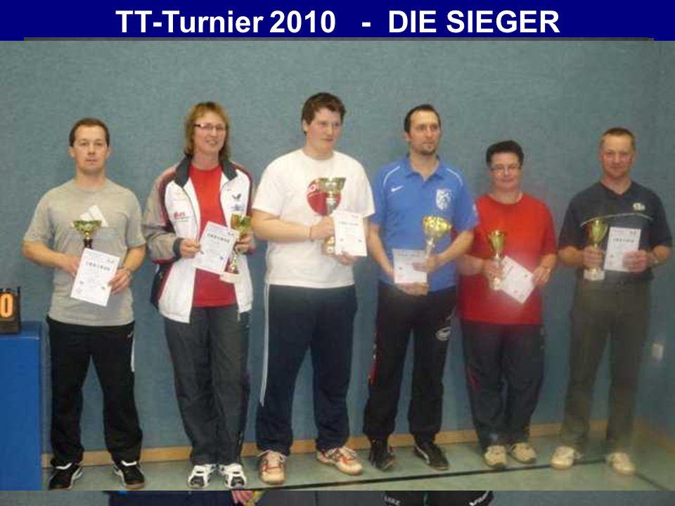 TT-Turnier 2010 - DIE SIEGER