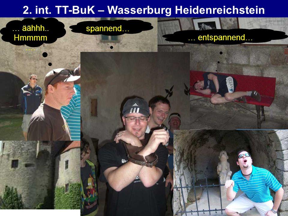 2. int. TT-BuK – Wasserburg Heidenreichstein … äähhh.. Hmmmm …. spannend… … entspannend…