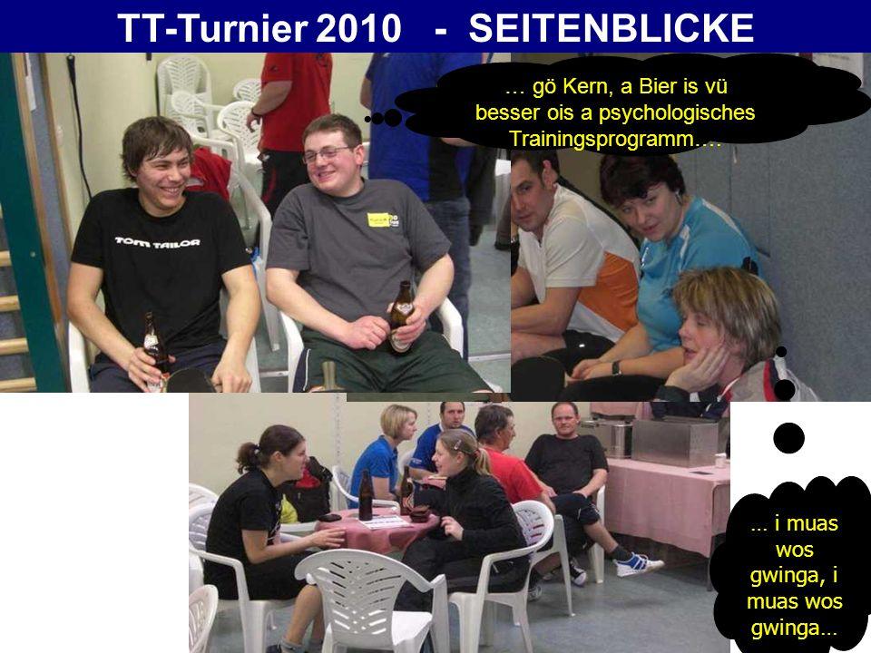 TT-Turnier 2010 - SEITENBLICKE … uups, da Lisi genau ins Aug – Shit …