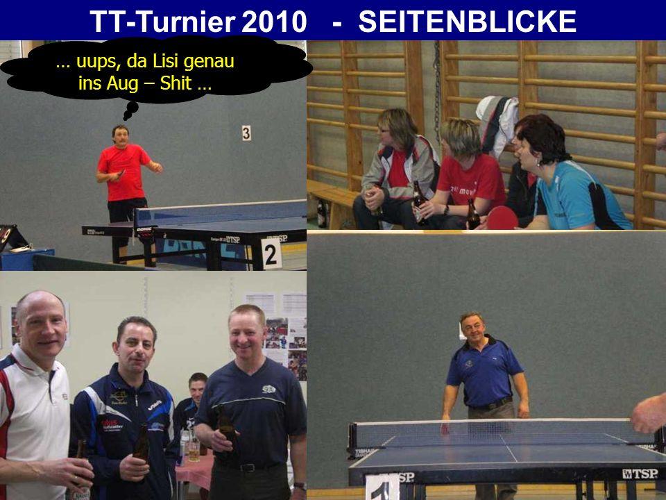 TT-Turnier 2010 - SEITENBLICKE … hoffentlich kriag i an Pokal ….