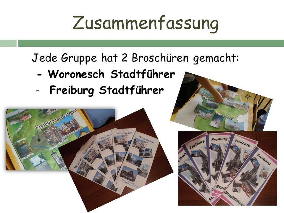 Wo möchte ich bleiben? 53 % Woronesch 47% Freiburg