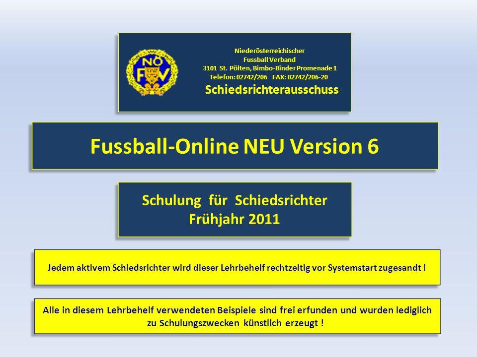 Fussball-Online NEU Version 6 Niederösterreichischer Fussball Verband 3101 St.