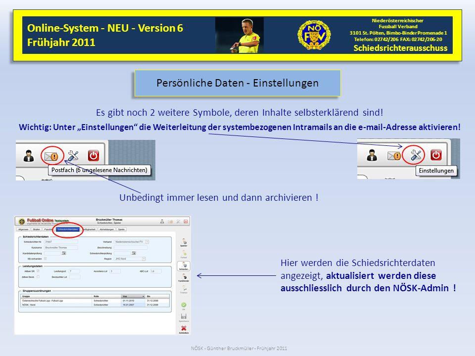 NÖSK - Günther Bruckmüller - Frühjahr 2011 Online-System - NEU - Version 6 Frühjahr 2011 Online-System - NEU - Version 6 Frühjahr 2011 Niederösterreichischer Fussball Verband 3101 St.