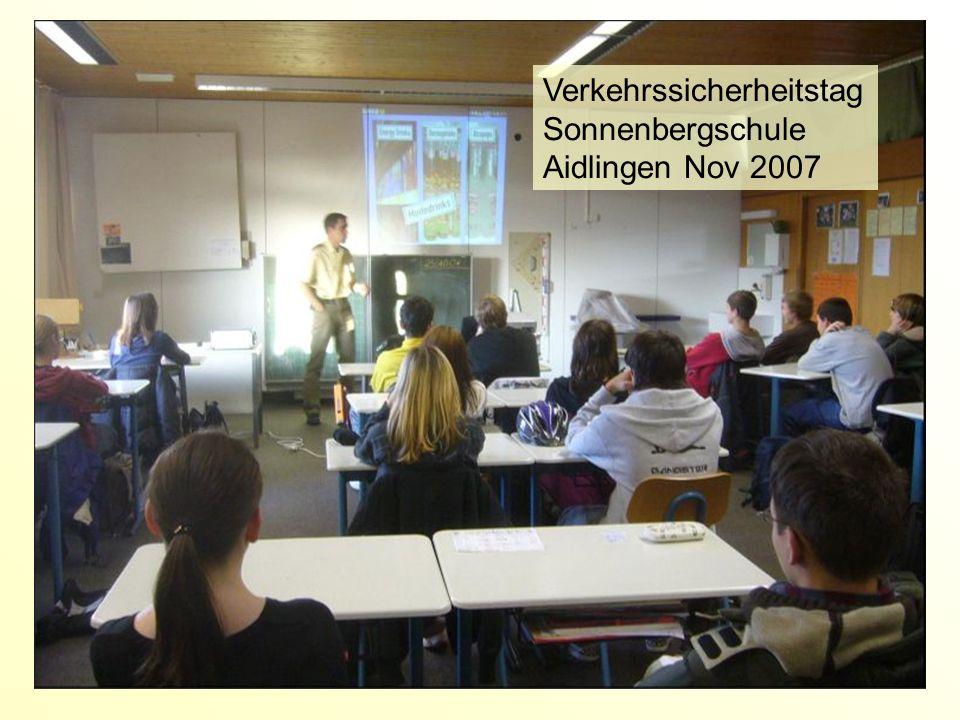 Verkehrssicherheitstag Sonnenbergschule Aidlingen Nov 2007