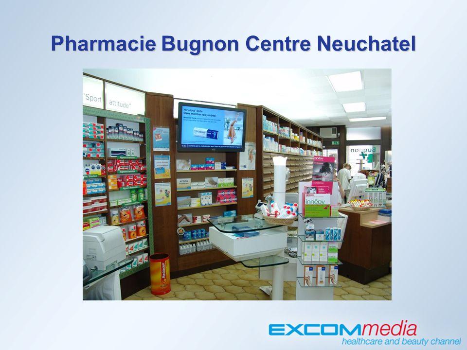 InStore TV am POS Pharmacie Bugnon Centre Neuchatel