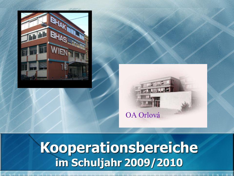 Kooperationsbereiche im Schuljahr 2009/2010 OA Orlová