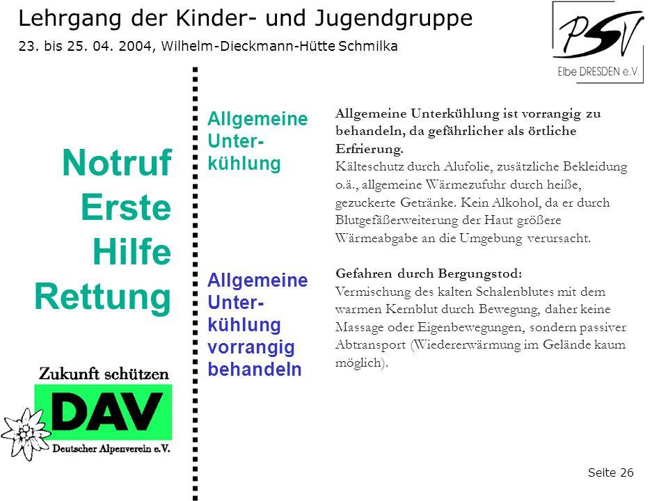Lehrgang der Kinder- und Jugendgruppe 23.bis 25. 04.