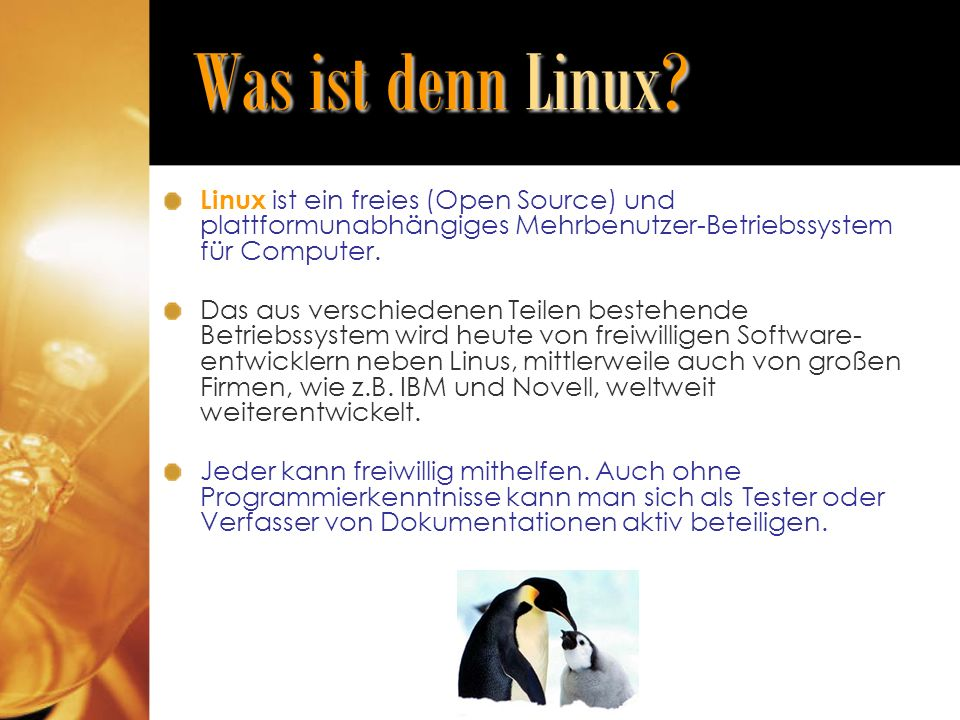 Was ist denn Linux.