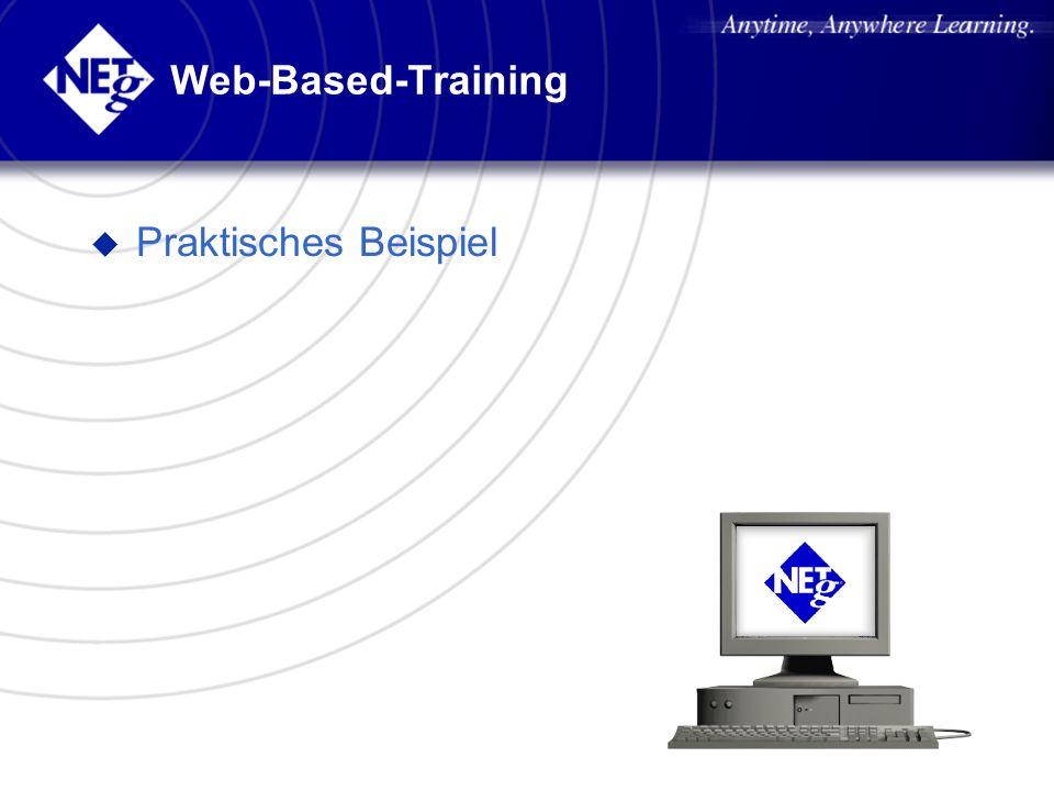 Web-Based-Training u Praktisches Beispiel
