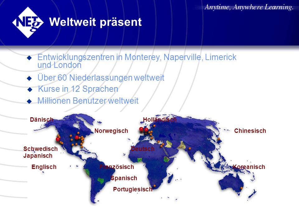 Weltweit präsent u Entwicklungszentren in Monterey, Naperville, Limerick und London u Über 60 Niederlassungen weltweit u Millionen Benutzer weltweit u
