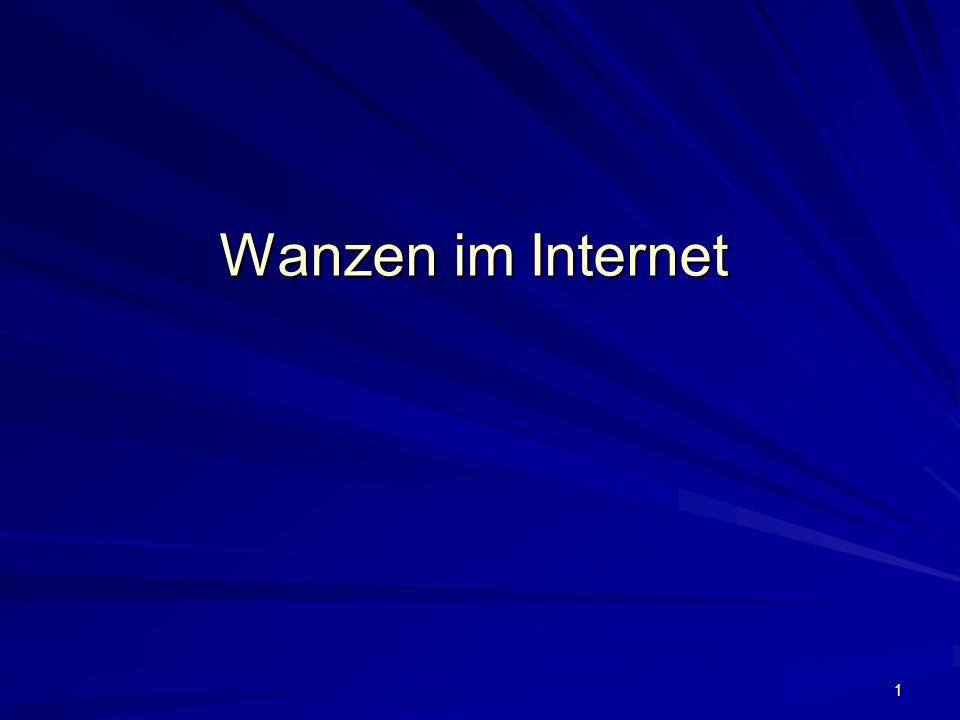 2 Was suchen die Internet-Wanzen.