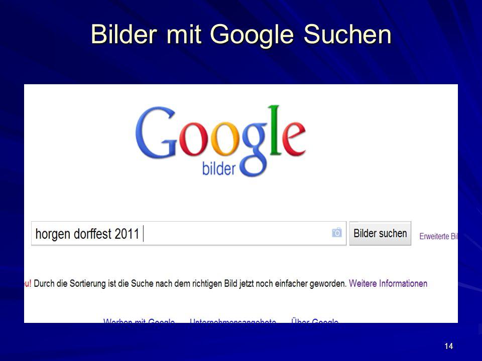 14 Bilder mit Google Suchen
