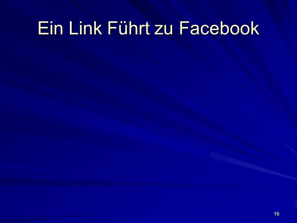 16 Ein Link Führt zu Facebook