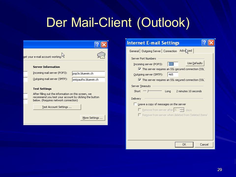 29 Der Mail-Client (Outlook)