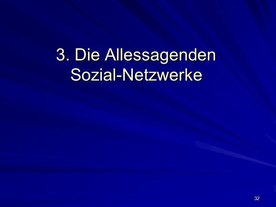 32 3. Die Allessagenden Sozial-Netzwerke