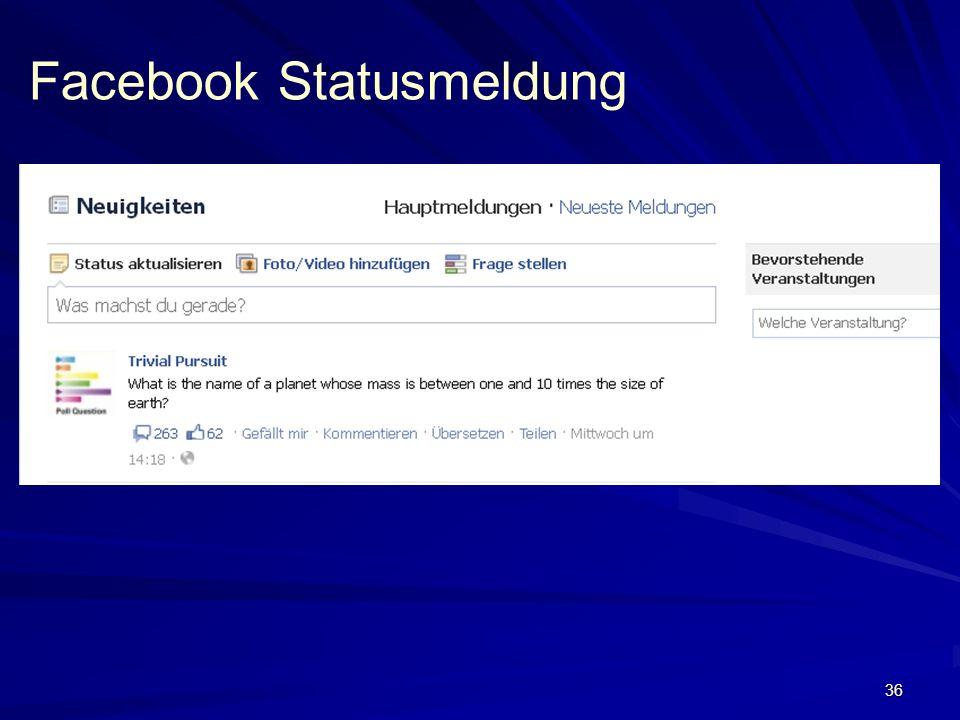 36 Facebook Statusmeldung