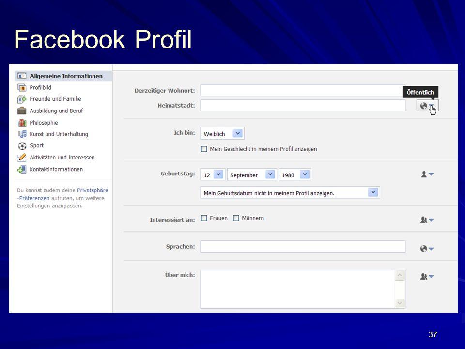 37 Facebook Profil