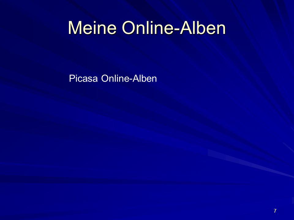 7 Meine Online-Alben Picasa Online-Alben