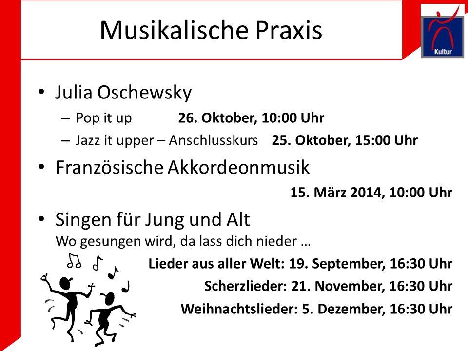Musikalische Praxis Julia Oschewsky – Pop it up26.