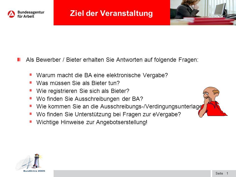 Überschrift1 Informationsveranstaltung für Bieter zur elektronischen Vergabe (e-Vergabe) 28.04.09