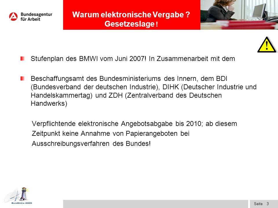 Seite2 Novellierung des deutschen Vergaberechts zum 01.11.2006 Öffentliche Auftraggeber können die Kommunikationsmittel frei wählen! per Post - elektr