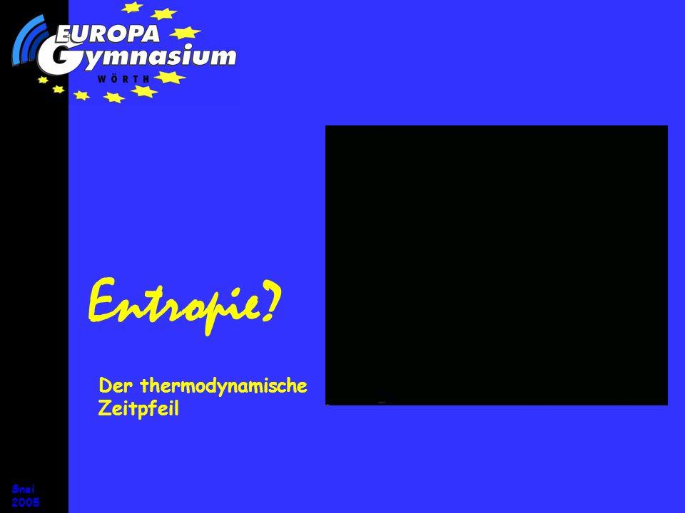 Snei 2005 Entropie? Der thermodynamische Zeitpfeil