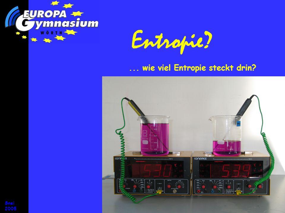 Snei 2005 Entropie und Energie Energie Entropie Energie Drehimpuls Wärmemotor Energie Entropie Energie Drehimpuls Wärmemotor EntropieVerlustenergie