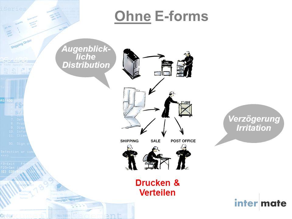 Verteilen & Drucken Mit E-forms Augenblick- liche Distribution Genauer und schneller Ausdruck