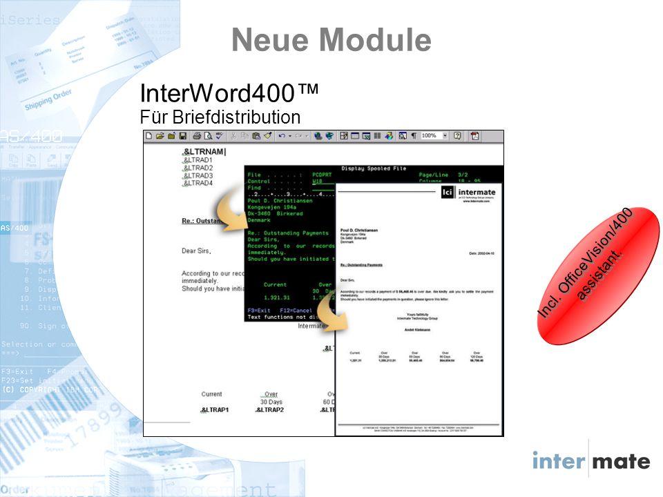 Neue Module InterWord400 Für Briefdistribution Incl. OfficeVision/400 assistant.