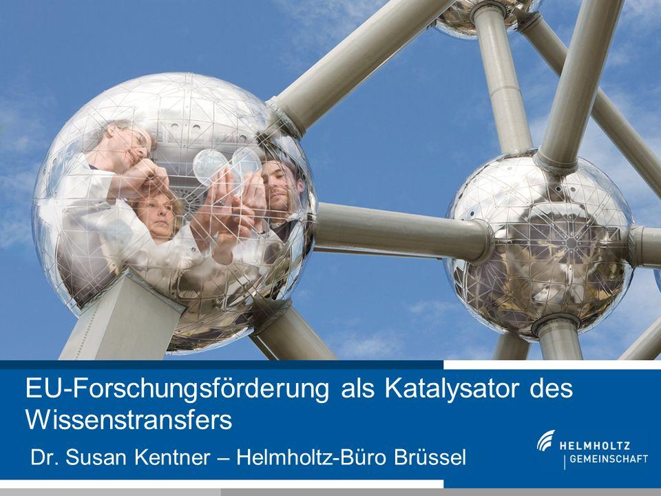11 Dr. Susan Kentner – Helmholtz-Büro Brüssel EU-Forschungsförderung als Katalysator des Wissenstransfers