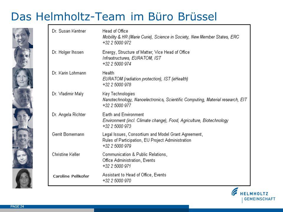 PAGE 24 Das Helmholtz-Team im Büro Brüssel Caroline Pellkofer