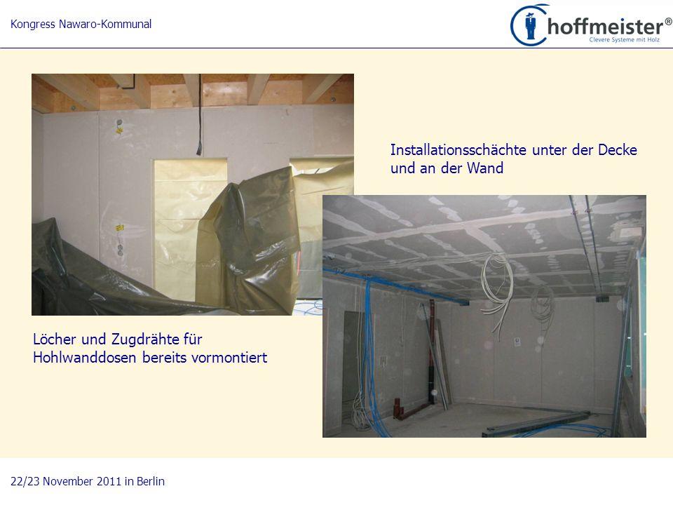 15 BAUnatour Wanderausstellung 2009-2011 Fachtagung 27. April 2010 in Göttingen Installationsschächte unter der Decke und an der Wand Löcher und Zugdr