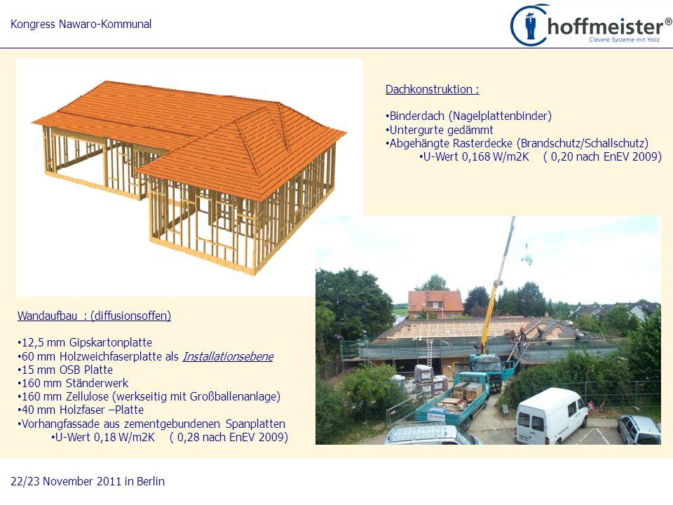 4 BAUnatour Wanderausstellung 2009-2011 Fachtagung 27. April 2010 in Göttingen Wandaufbau : (diffusionsoffen) 12,5 mm Gipskartonplatte 60 mm Holzweich