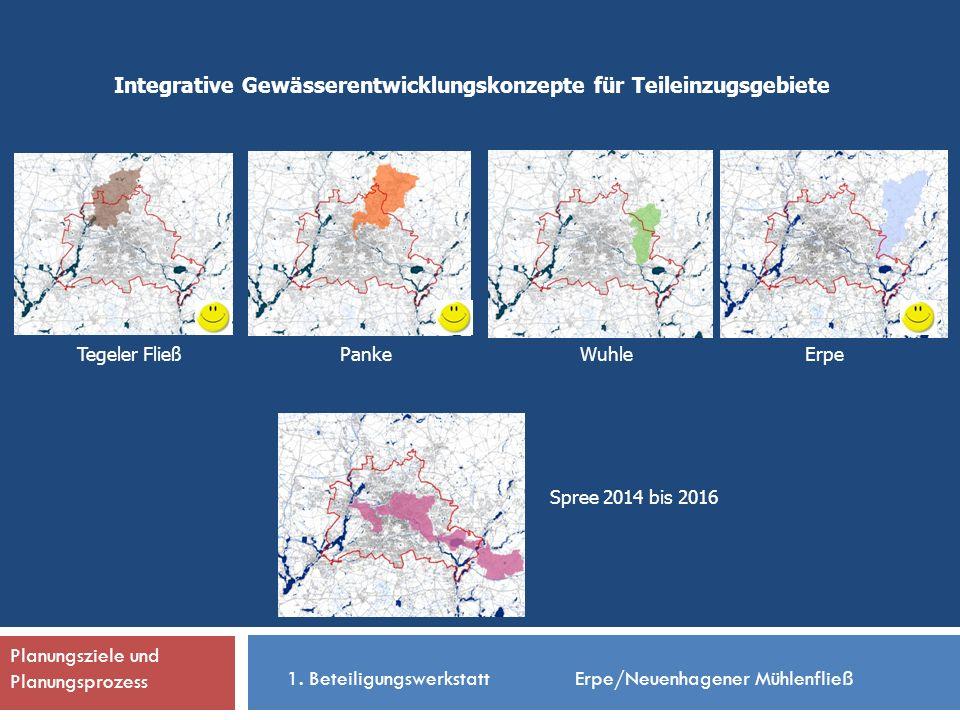 Integrative Gewässerentwicklungskonzepte für Teileinzugsgebiete PankeTegeler Fließ Spree 2014 bis 2016 WuhleErpe 1.
