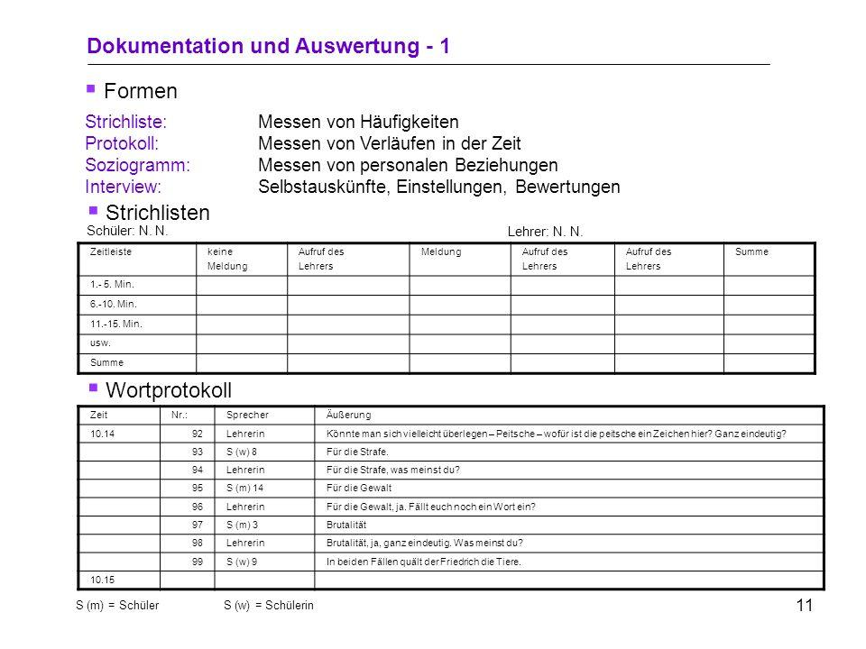 9 1.Beobachtungsbereich festlegen 2.Unstrukturierte Beobachtung durchführen (Informationen sammeln und verarbeiten) 3.Einengung auf bestimmte Kategori