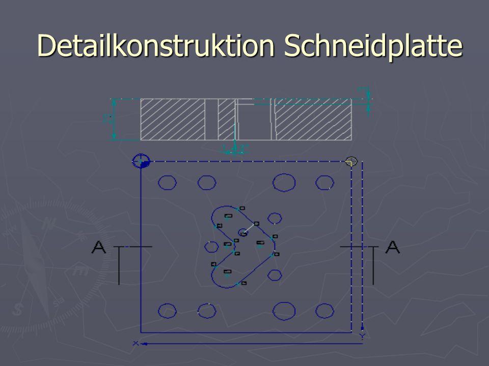 Detailkonstruktion Schneidplatte