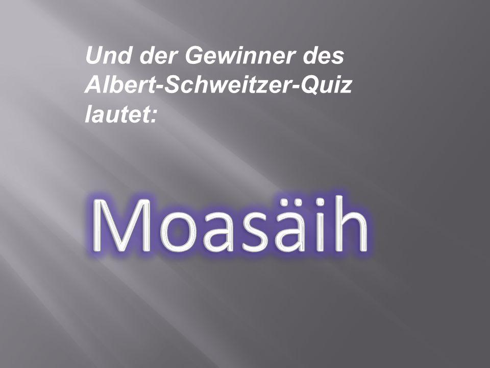 Wie lautet der Grundsatz der Ethik Jesu, die für Albert Schweitzer wichtig war .