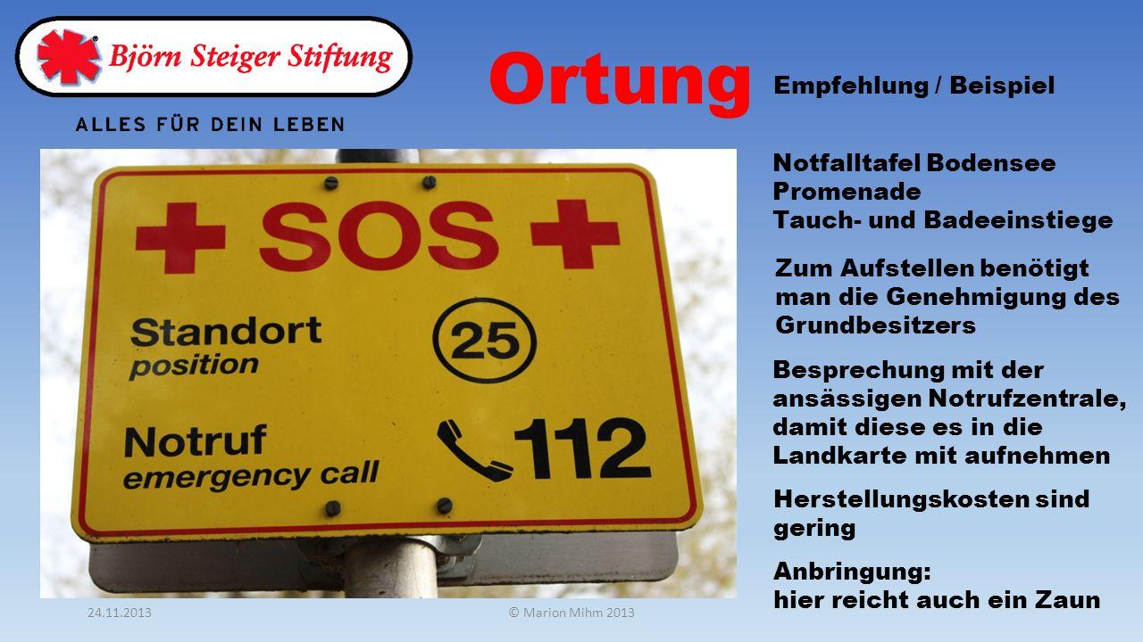 Ortung Notfalltafel Bodensee Promenade Tauch- und Badeeinstiege Empfehlung / Beispiel Zum Aufstellen benötigt man die Genehmigung des Grundbesitzers B