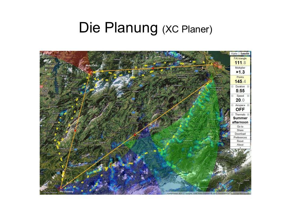 Die Planung (XC Planer)