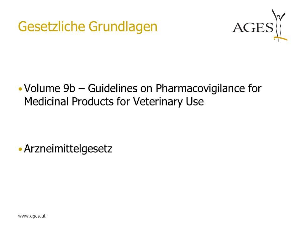 www.ages.at Allgemeines Teil des Dossiers (Part 1) jede Änderung ist eine Variation Gibt Überblick über PV Aktivitäten Wenn produktspezifische Zusätze Produktspezifisches Addendum