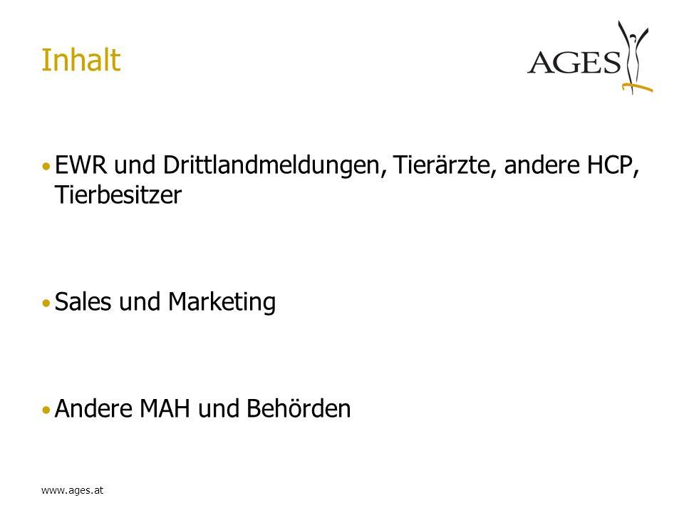 www.ages.at Inhalt Duplikatdetektion Expedited reporting Elektronische Meldung (EudraVigilance) PSUR´s