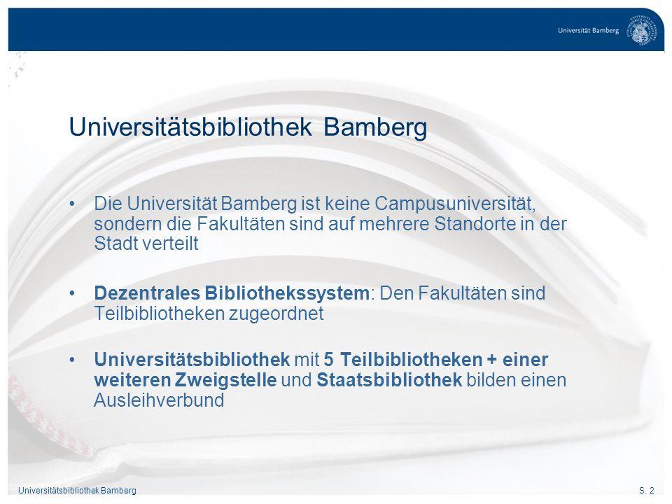S. 23Universitätsbibliothek Bamberg Recherchieren und Bestellen Bamberger Katalog (OPAC)
