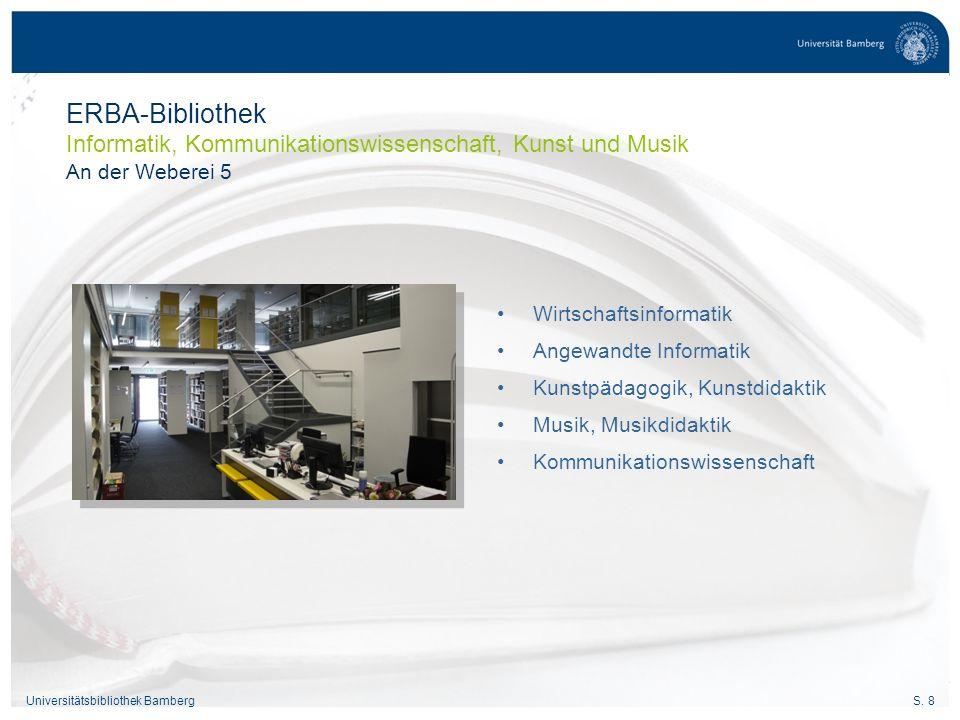 S.19Universitätsbibliothek Bamberg 21/… 23/… 4 Wo.