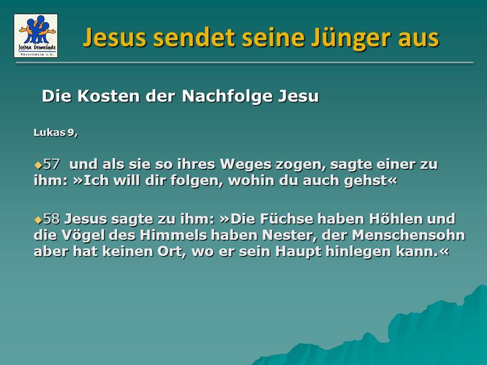 Jesus sendet seine Jünger aus Lukas 10, 16 Wer euch hört, hört mich; und wer euch verachtet, verachtet mich.